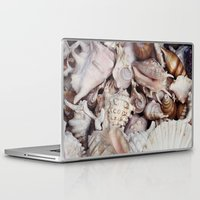 seashell Laptop & iPad Skins featuring seashell by Pink Revenge