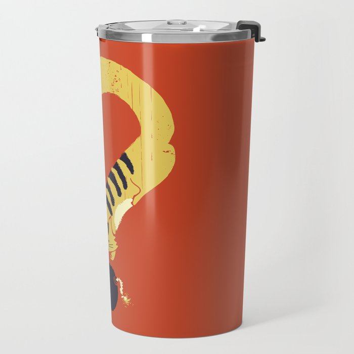Question Mark (Curiosity Kills The Cat) Travel Mug