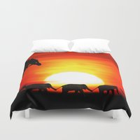 africa Duvet Covers featuring Africa by Selina Morgan