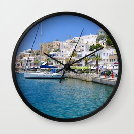 Beautiful Naxos in the Greek Islands Wall Clock