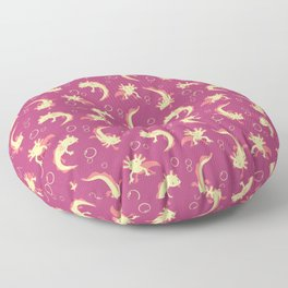 Relaxolotl - Rose Pink Floor Pillow