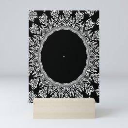 Arctic Circle Kaleidoscope Black And White Nordic Design Mini Art Print