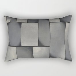 Theo van Doesburg - Composition in Gray - Rag-Time - Abstract De Stijl Painting Rectangular Pillow