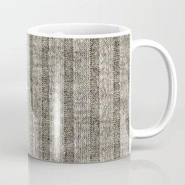 Soft Brown Jersey Knit Pattern Coffee Mug