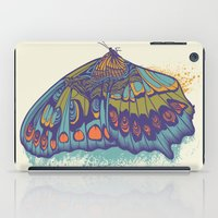 cycle iPad Cases featuring Butterfly Life Cycle by Rachel Caldwell