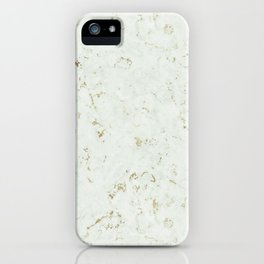 Green Natures Gold Marble iPhone Case