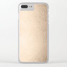 Tahitian Summer Gold Clear iPhone Case