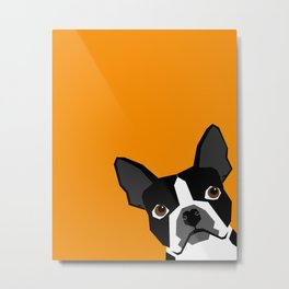 Peeking Terrier funny dog art customizable gift for dog lovers dog person must haves Metal Print