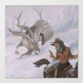 Frost - The legend of the snow beast was true Canvas Print