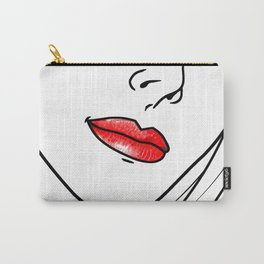 Red Lipstick Carry-All Pouch