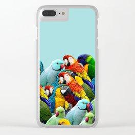 Sky blue parrots home decor Clear iPhone Case