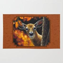 Whitetail Deer Face Rug