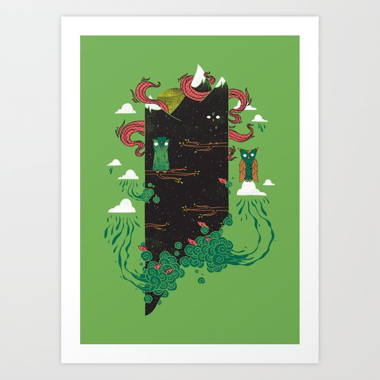 Nighttime Art Print