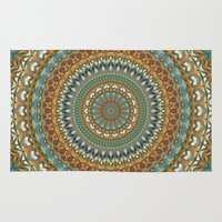 the 100 Area & Throw Rugs featuring Mandala 100 by Patterns of Life