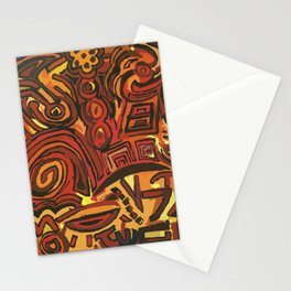 Orange Symbols Stationery Cards