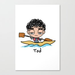 Tod Kayak Canvas Print