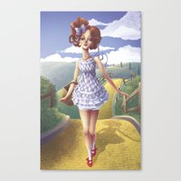 dorothy Canvas Prints featuring Dorothy by FReMO