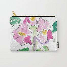 Pink Nasturtiums by artist John E. Carry-All Pouch