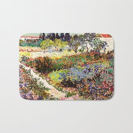 Vincent Van Gogh Flowering Garden Bath Mat