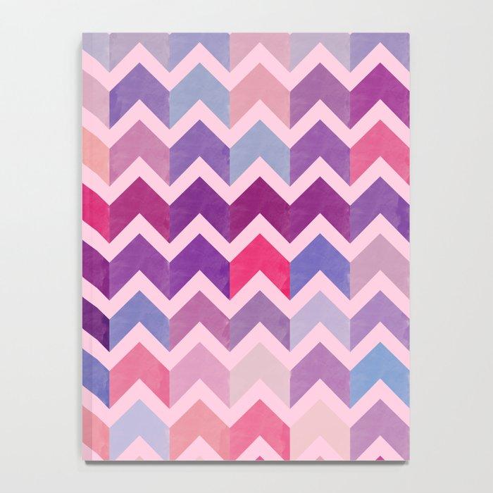 Watercolor Chevron Pattern II Notebook