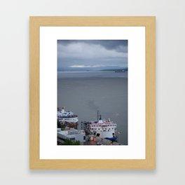 Port de Québec Framed Art Print