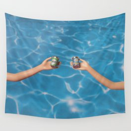 Beer at the pool Wall Tapestry