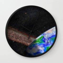Terra Sans Moon Wall Clock