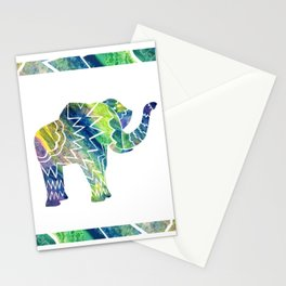 Patchwork Elephant Stationery Cards