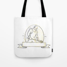 Foundry Worker Steel Ladle Miono Line Tote Bag