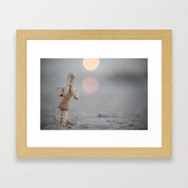 the beggar  Framed Art Print