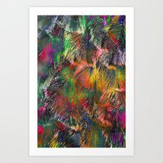 Colored Feathers Art Print
