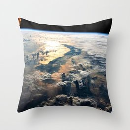 Morning on Planet Earth Satellite Photograph Throw Pillow