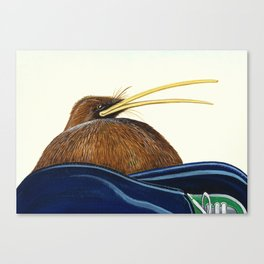 Kiwi on Sammy's lap Canvas Print