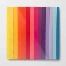 vertical lines colors Metal Print