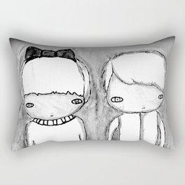 Indigo Twins Rectangular Pillow
