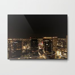 Osaka Black and Gold Metal Print