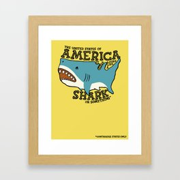 America…   it kinda looks like a shark or something Framed Art Print