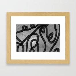 """Galactic Ribbon"" (Black & White) Digital Painting // Fine Art Print Framed Art Print"