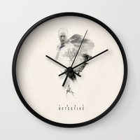 true detective Wall Clocks featuring True Detective by Inno Theme