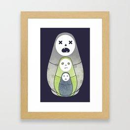Zombie nesting dolls Framed Art Print