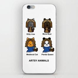 Artsy Animals iPhone Skin