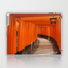 Torii gates of the Fushimi Inari Shrine in Kyoto, Japan Laptop & iPad Skin