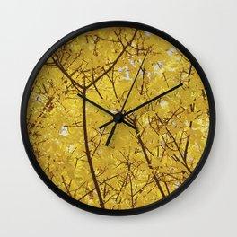 Colorado Autumn in Yellow Wall Clock