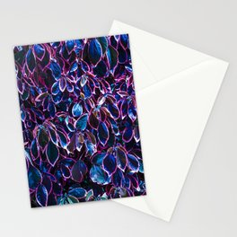 Leaves of a plant creating a wall Stationery Cards