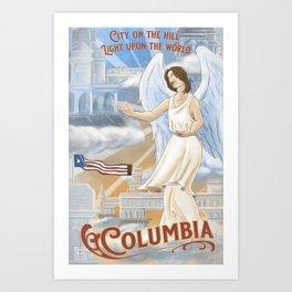 Columbia - City on the Hill Art Print