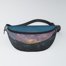 Milky Way Mountains Deep Pastels Fanny Pack