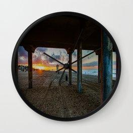December Morn ~ Surf City Wall Clock