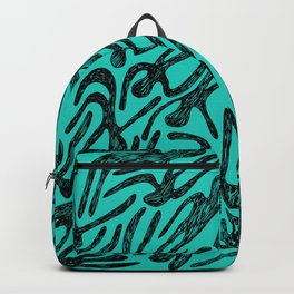 pattern with black shapes Backpack