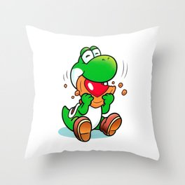 Yoshi And Cookie Throw Pillow
