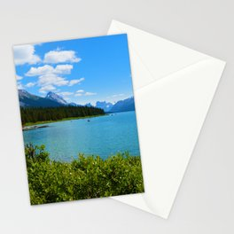 Maligne Lake Boat House in Jasper National Park, Canada Stationery Cards
